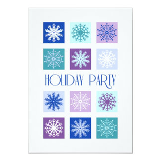 Snowflakes Christmas Party Invitation Card