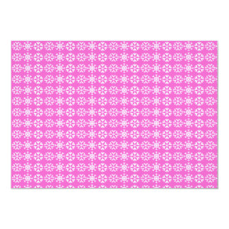 Snowflakes Christmas Party Invitation (pink)