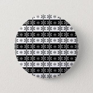 Snowflakes - Christmas pattern Button