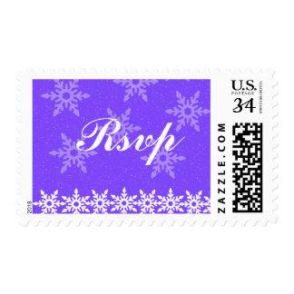 Snowflakes Christmas RSVP Postage Stamps