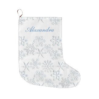 Snowflakes Christmas Stocking