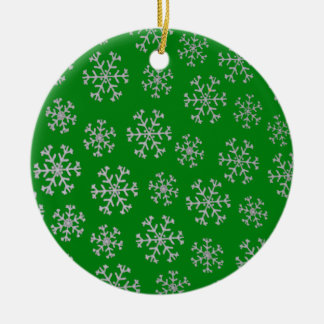 Snowflakes Christmas Tree Ornament (green)