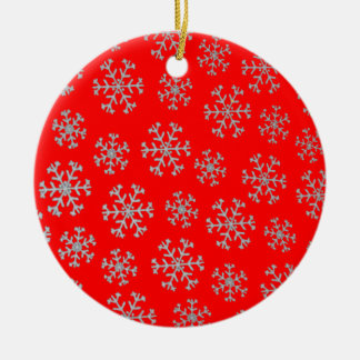 Snowflakes Christmas Tree Ornament (red)
