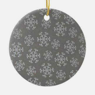 Snowflakes Christmas Tree Ornament (Silver)
