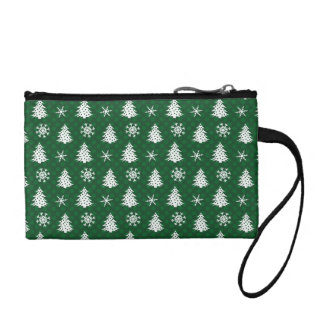 Snowflakes & Christmas Trees Coin Purse