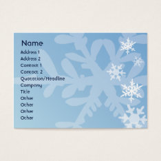 Snowflakes - Chubby Business Card at Zazzle