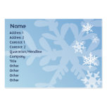 Snowflakes - Chubby Business Card Template