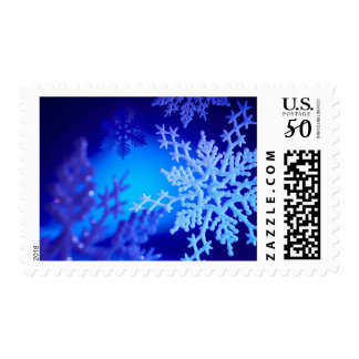Snowflakes, close-up postage
