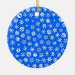 Snowflakes Collage Christmas Ornaments