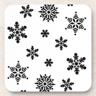 Snowflakes Beverage Coasters