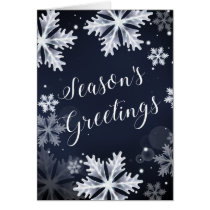 snowflakes Corporate Christmas Card
