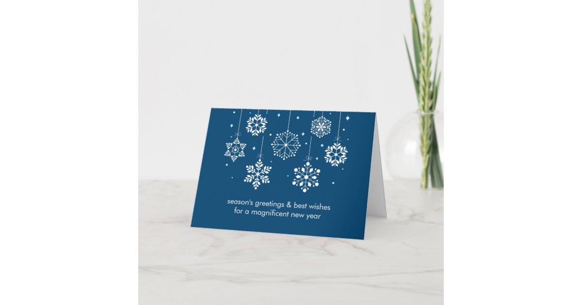 Snowflakes Corporate Christmas Card | Zazzle.com