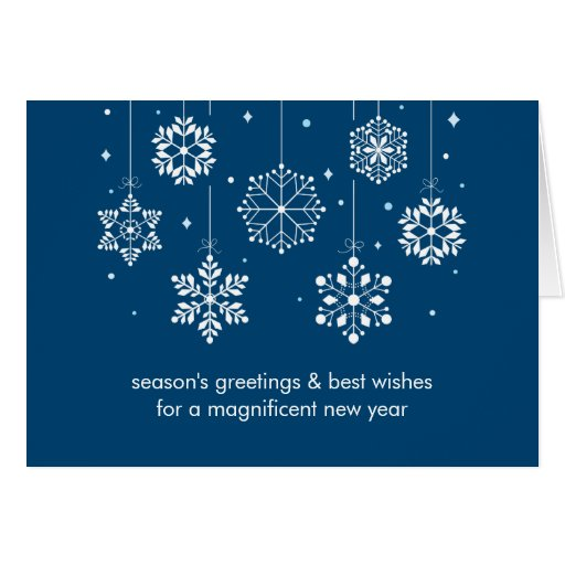 Snowflakes Corporate Christmas Card
