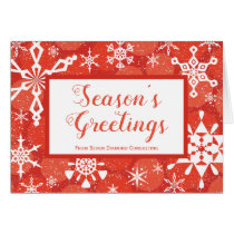 Snowflakes Corporate Contemporary Holiday Card