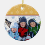 Snowflakes Custom Christmas Ornament (gold)