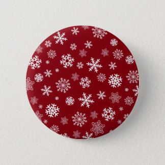 Snowflakes - customize with your favorite color pinback button