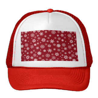 Snowflakes - customize with your favorite color trucker hat