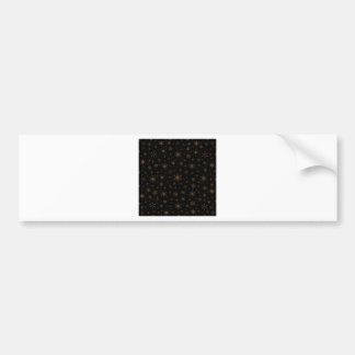 Snowflakes – Dark Brown on Black Bumper Stickers