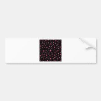 Snowflakes – Dark Pink on Black Bumper Sticker