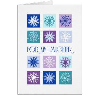Snowflakes Daughter Christmas Card