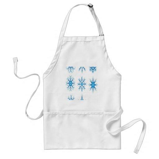 Snowflakes design aprons