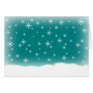 SNOWFLAKES DESIGN TEAL CARD