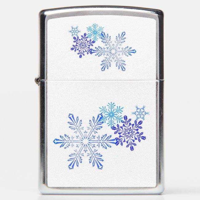 Snowflakes Design Zippo Lighter.