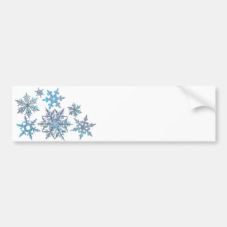 Snowflakes, embroidered look bumper sticker