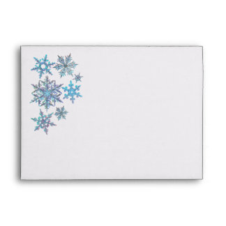 Snowflakes, embroidered look envelope