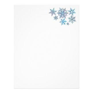 Snowflakes, embroidered look letterhead