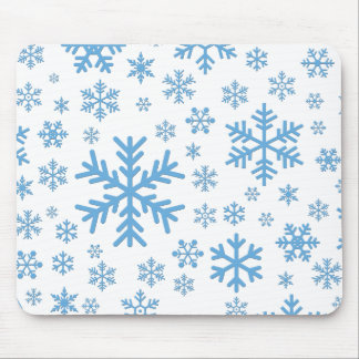 Snowflakes Falling, Flurries Mouse Pad