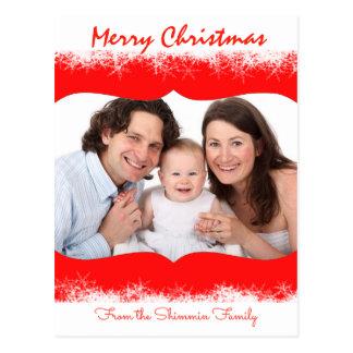 Snowflakes Family Greetings PostCard Your Photo
