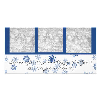 Snowflakes Famiy Holiday Photo Cards