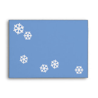 snowflakes for Christmas Envelope