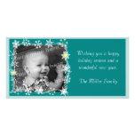 Snowflakes Framed Holiday Photo Card