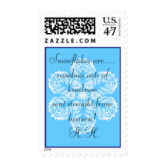 Snowflakes from heaven postage stamps