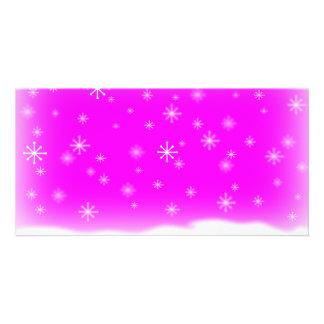 SNOWFLAKES FUCHSIA CARD