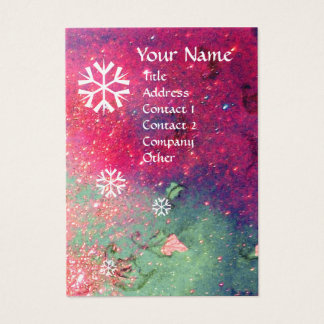 SNOWFLAKES Gold Metallic paper Business Card