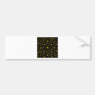 Snowflakes – Golden Yellow on Black Bumper Stickers