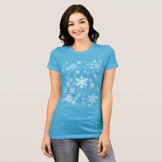 Snowflakes Graphic Background on a T-Shirt