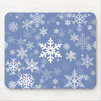 Snowflakes Graphic Customize Color Background on a Mouse Pad