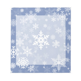 Snowflakes Graphic Customize Color Background on a Notepad