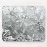 snowflakes gray greys winter digital realism layer mouse pads