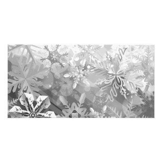 snowflakes gray greys winter digital realism layer photo card template