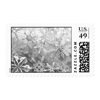 snowflakes gray greys winter digital realism layer postage