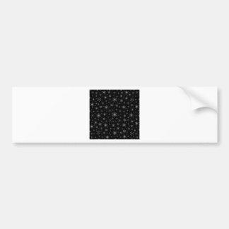 Snowflakes – Gray on Black Bumper Sticker
