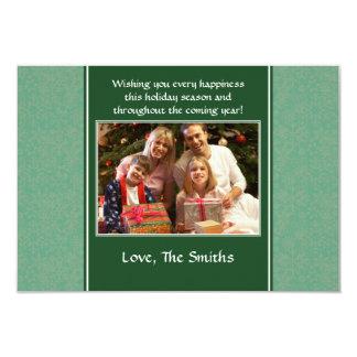 Snowflakes - Green 3.5x5 Paper Invitation Card