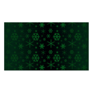 Snowflakes – Green Business Card