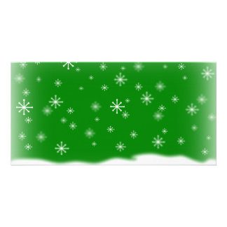SNOWFLAKES GREEN CARD