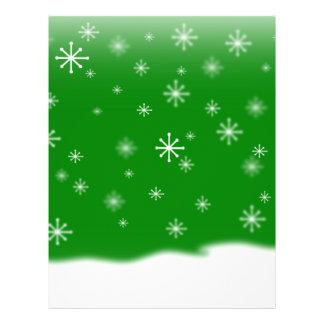 SNOWFLAKES GREEN FLYER